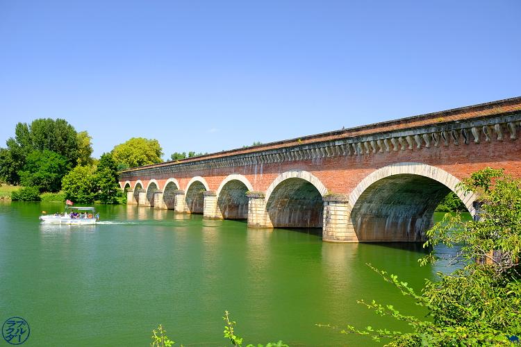 Le Chameau Bleu- blog voyage Canal des deux Mers -pont canal du Cacor en Tarn et Garonne