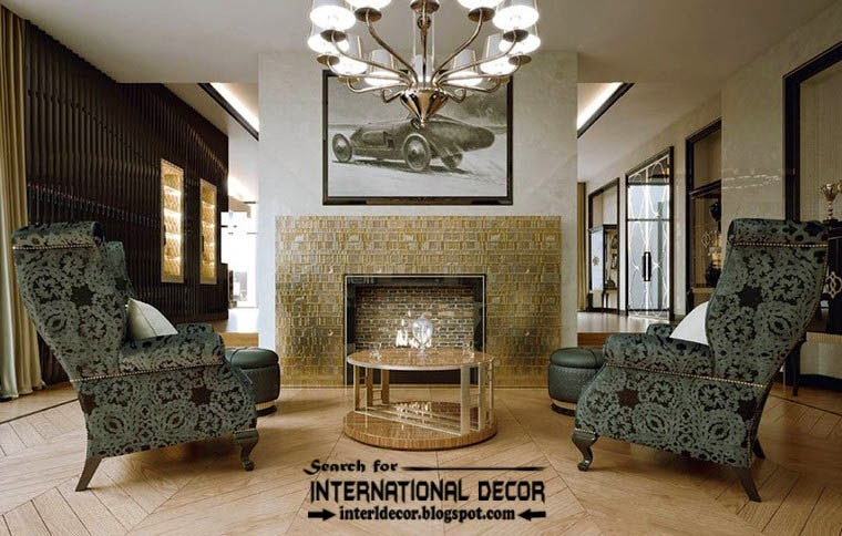 Stylish Art Deco interior design style and furniture, apartments in London