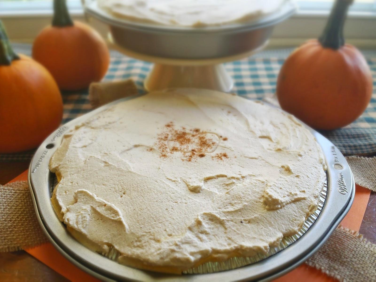 the whole no bake pumpkin cheesecake