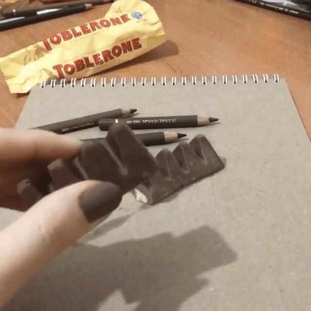 08-Chocolate-Reveal-Elif-Nihan-Sahin-3D-Drawing-www-designstack-co