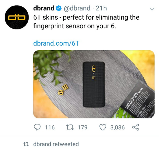 Dbrand is preparing for the OnePlus 6T launch