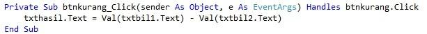 kurang - Tutorial membuat Kalkulator Dengan Visual Studio 2012