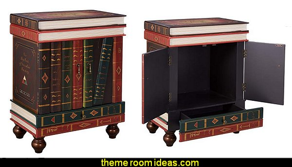 Stacked Books End Table Storage Furniture  Harry potter themed bedrooms - harry potter bedroom decor - Harry Potter decorating ideas - Harry Potter Room Decor - Harry Potter Bedroom Ideas - Harry Potter  bedding - Harry Potter wall decals - Harry Potter wall murals - harry potter furniture - harry potter party supplies - castle decorating props - harry potter party decorations - Magical Hogwarts House Theme - harry potter home decor - harry potter bedroom decorating ideas