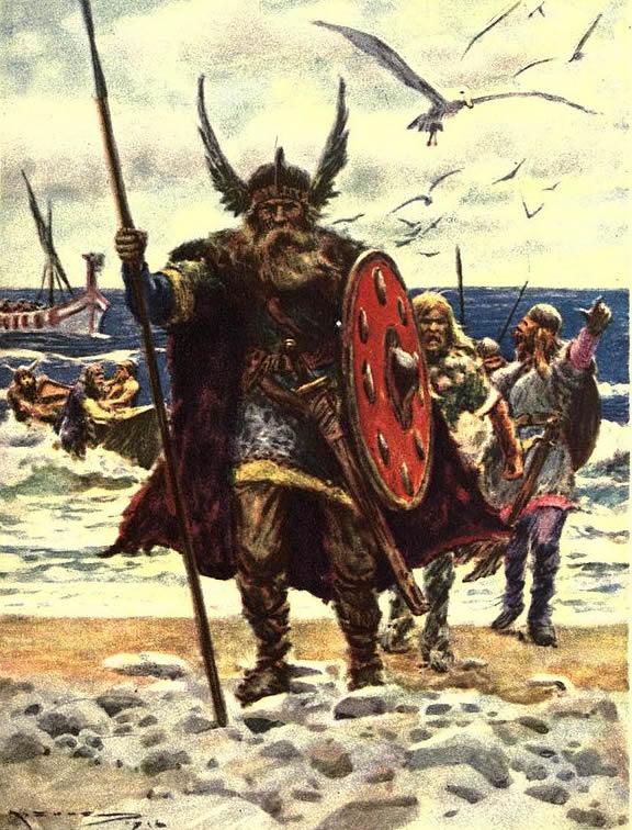 Leif Ericson landing in America