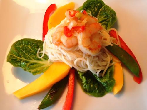 Pauline's Thaise Salade met Gamba's
