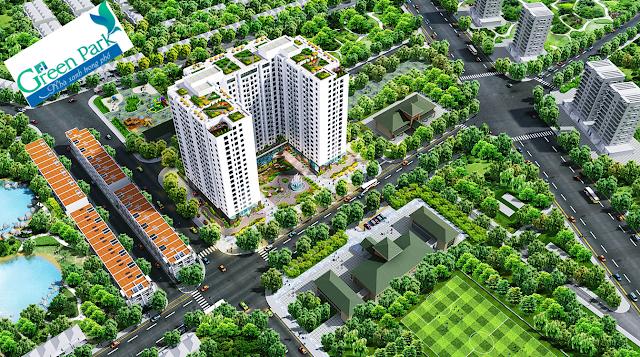 Phối cảnh của chung cư PD Green Park