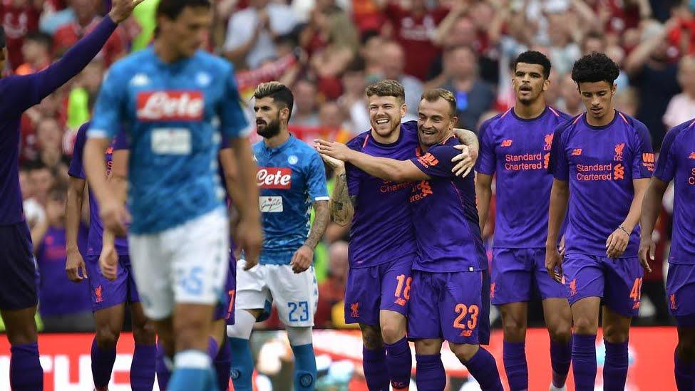 Manita del Liverpool al Napoli: pesante 5-0 in amichevole per Carlo Ancelotti.