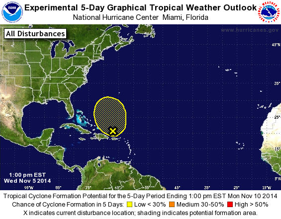 National Hurricane Center Tropical Weather Outlook