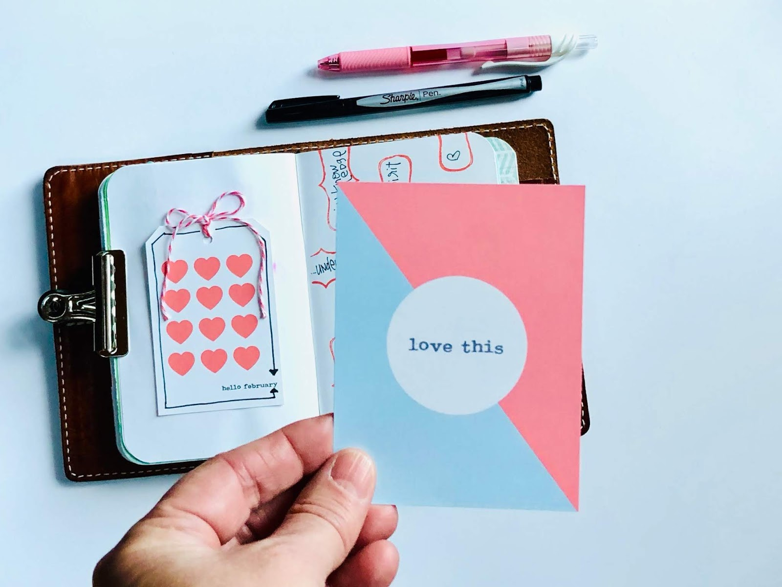 #Hello February #free journaling cards #free #printable #journal card #pocket pages #scrapbooking #journal #supplies #download