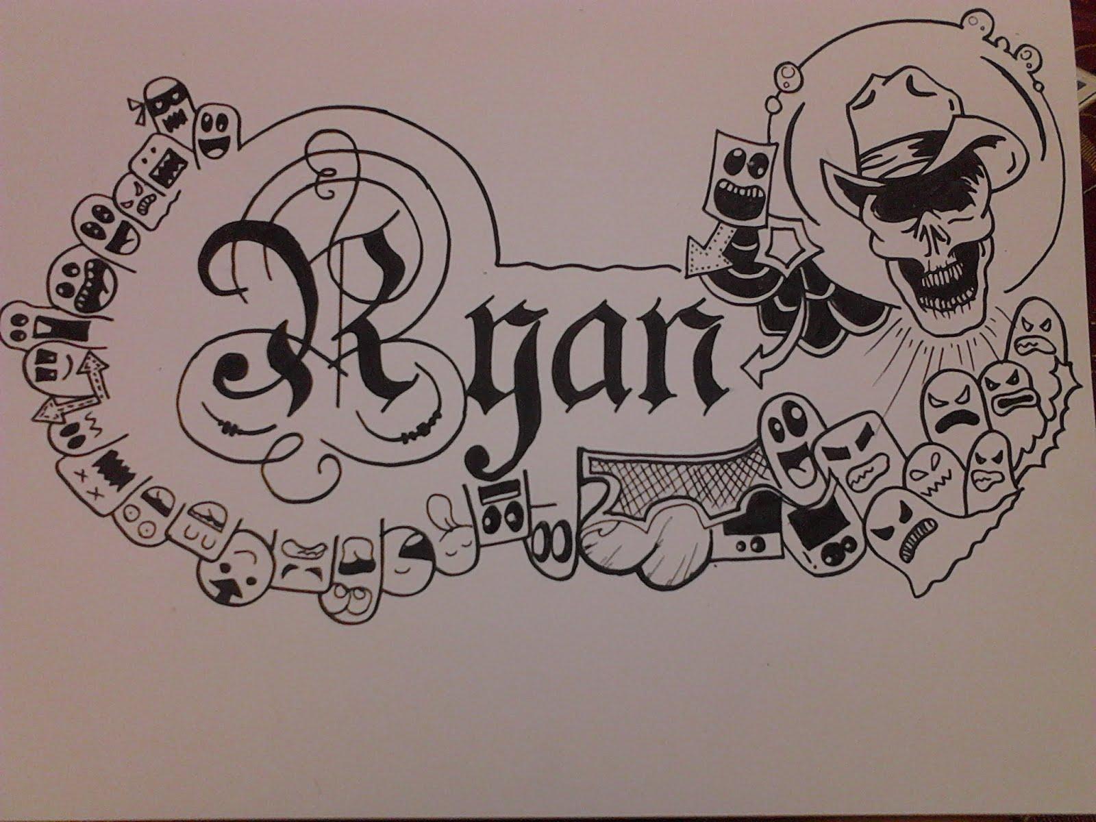 Sketsa Gambar Doodle Nama