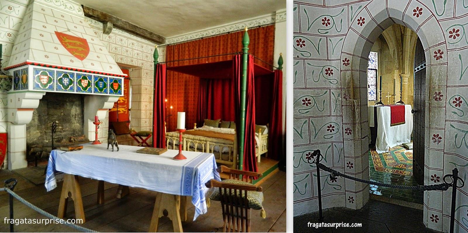 Dormitório e capela nos aposentos do rei Eduardo IV na Torre de Londres