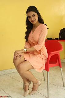 Rukshar Mir in a Peachy Deep Neck Short Dress 021.JPG