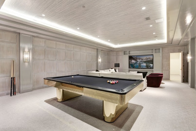 Washington DC luxury mansion Kalorama billiards pool table regency style limestone
