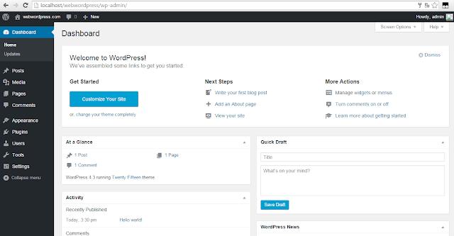 Cara terbaru install wordpress di localhost mengunakan webserver xampp
