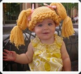 Tığ işi Saç Şeklinde Bebek Bere Modelleri 5
