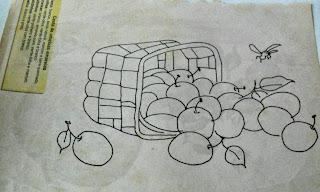 Risco para pintura em tecidos-frutas