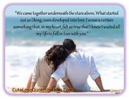Cute And Lovely Quotes For Parents: We came together underneath stars above.