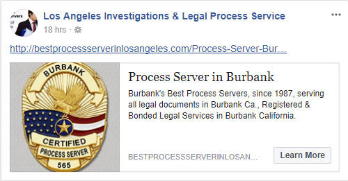 Certified Process Server in Burbank California