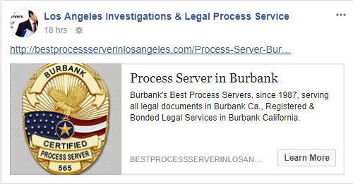 Certified Process Server in Burbank California