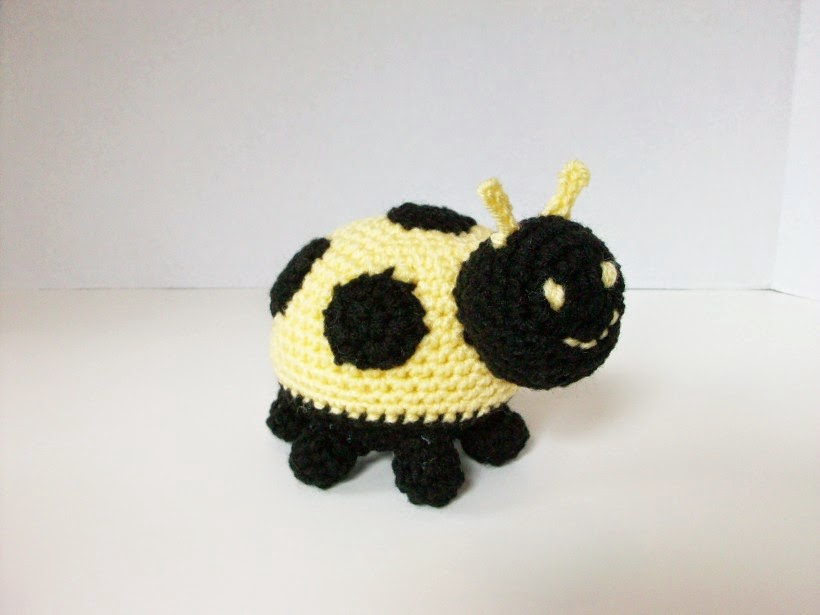 yellow lady bug plushie