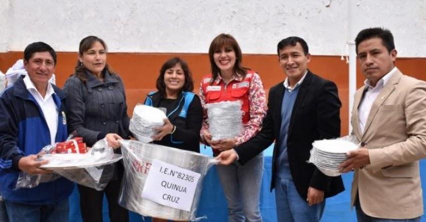 Trabajo articulado de Midis - QALI Warma y Municipalidad Provincial permitió equipar instituciones educativas de Cajabamba - www.qaliwarma.gob.pe