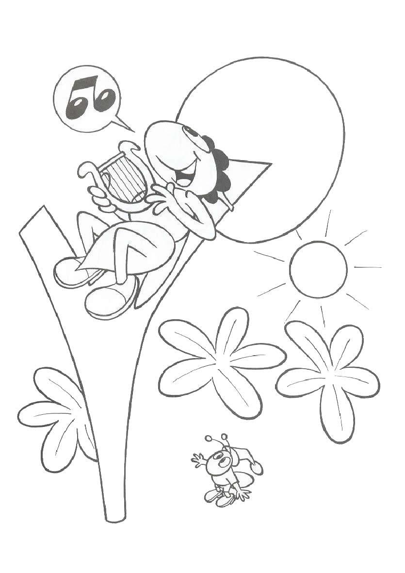 Dorable Colorear Hola Hormiga Para Colorear Imagen - Dibujos Para ...