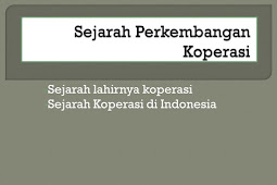 Sejarah dan Perkembangan Koperasi di Indonesia