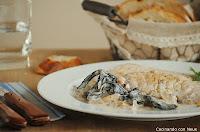 Filetes de lomo con salsa de setas