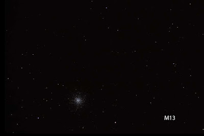 M13 shows up in telescope at Julian Star Party at Menghini Winery (Source: Palmia Observatory)