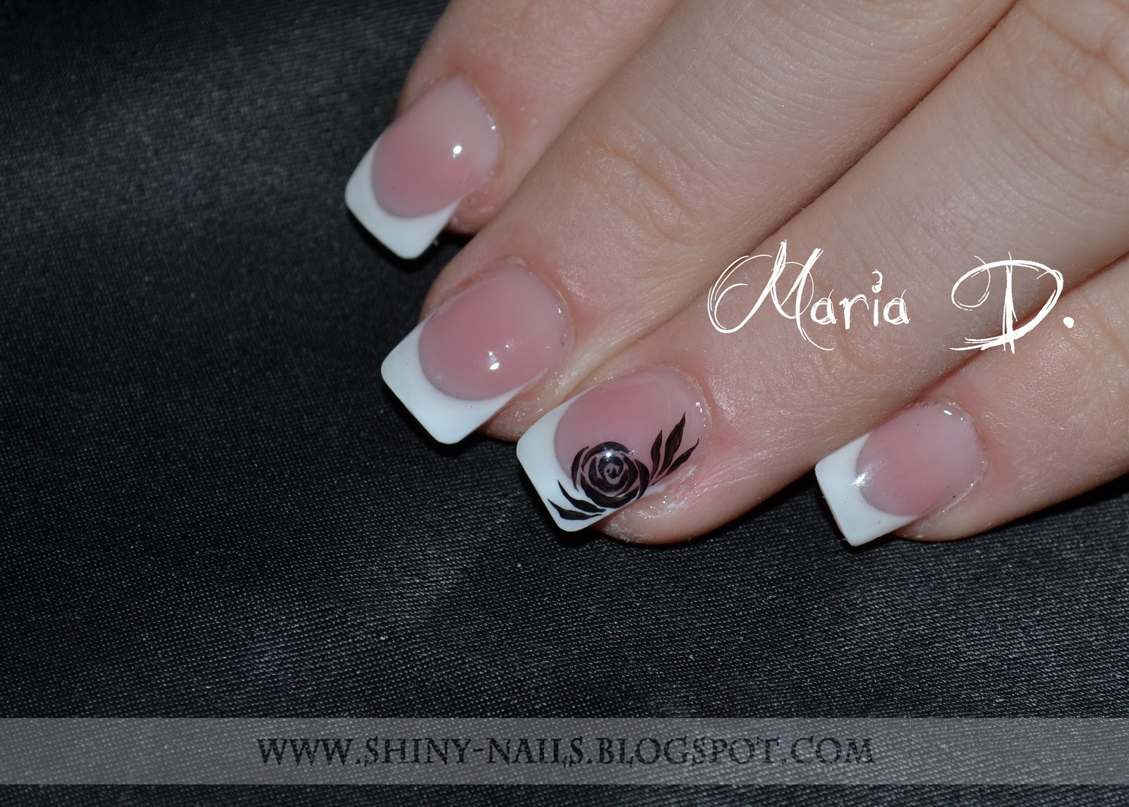How To Do Square French Manicure Papillon Day Spa