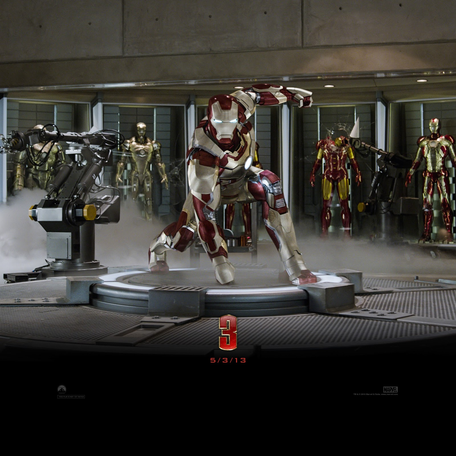 Free Download Official Iron Man 3 Movie Wallpapers