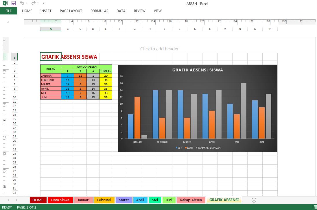 Aplikasi Absen Siswa Sd Dengan Excel Soal Revisi