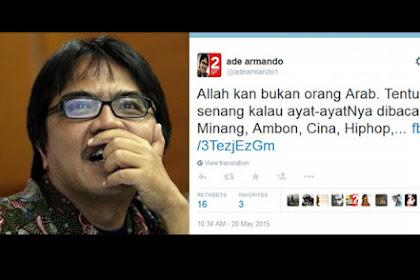 """Sepertinya Tak Bisa Tidur Nyenyak, SP3 Ade Armando Dicabut, Johan Khan: """"Allahu Akbar!"""""""