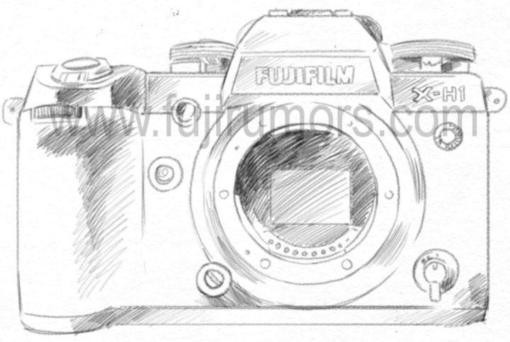 Набросок внешнего вида Fujifilm X-H1