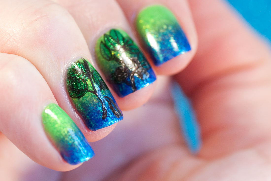 Neon Gradient Nail Art with Smitten Polish Ice Pop Paradise and Terra Opal