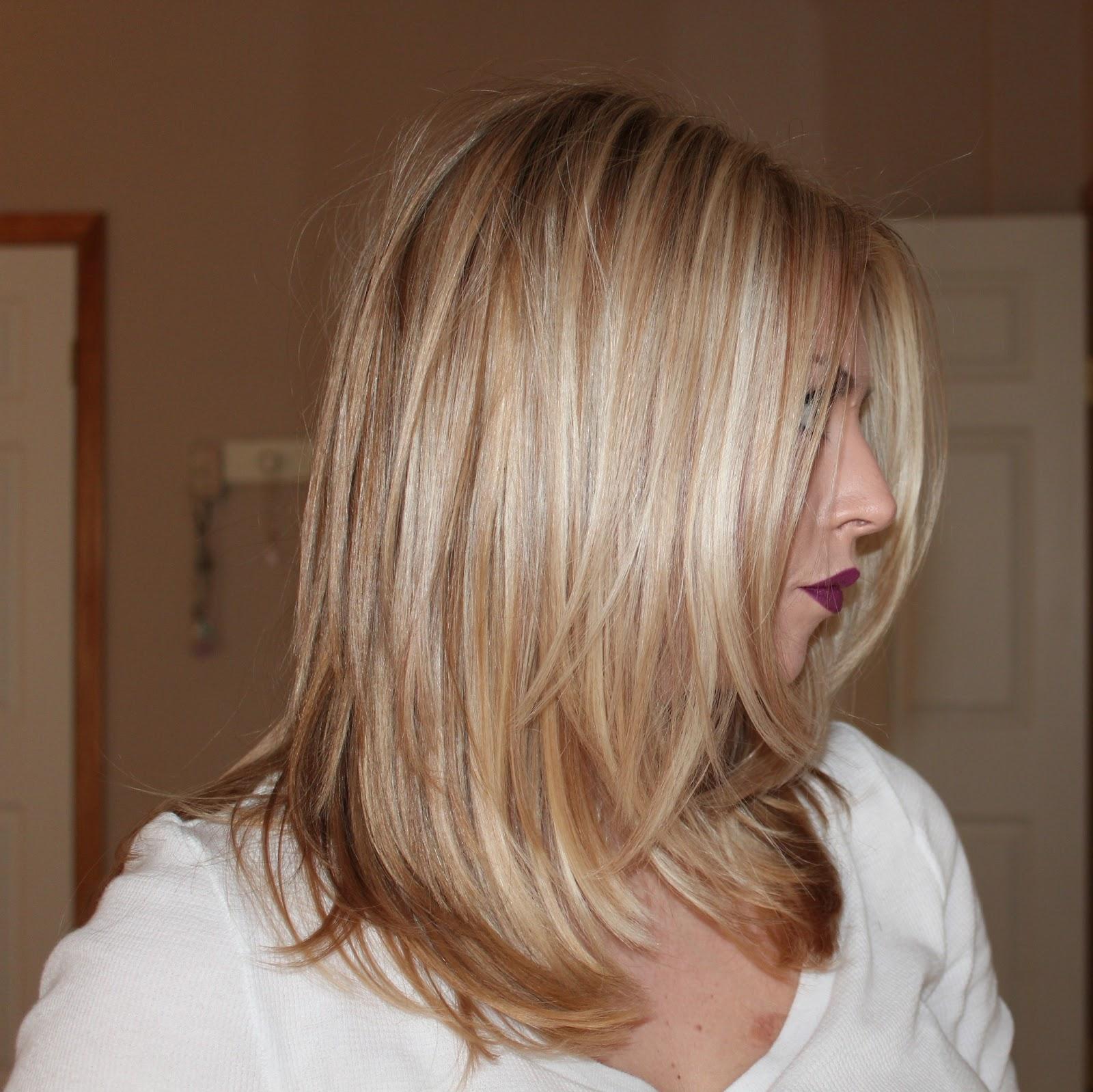Carmel Lowlights On Blonde Hair Short Hairstyle 2013