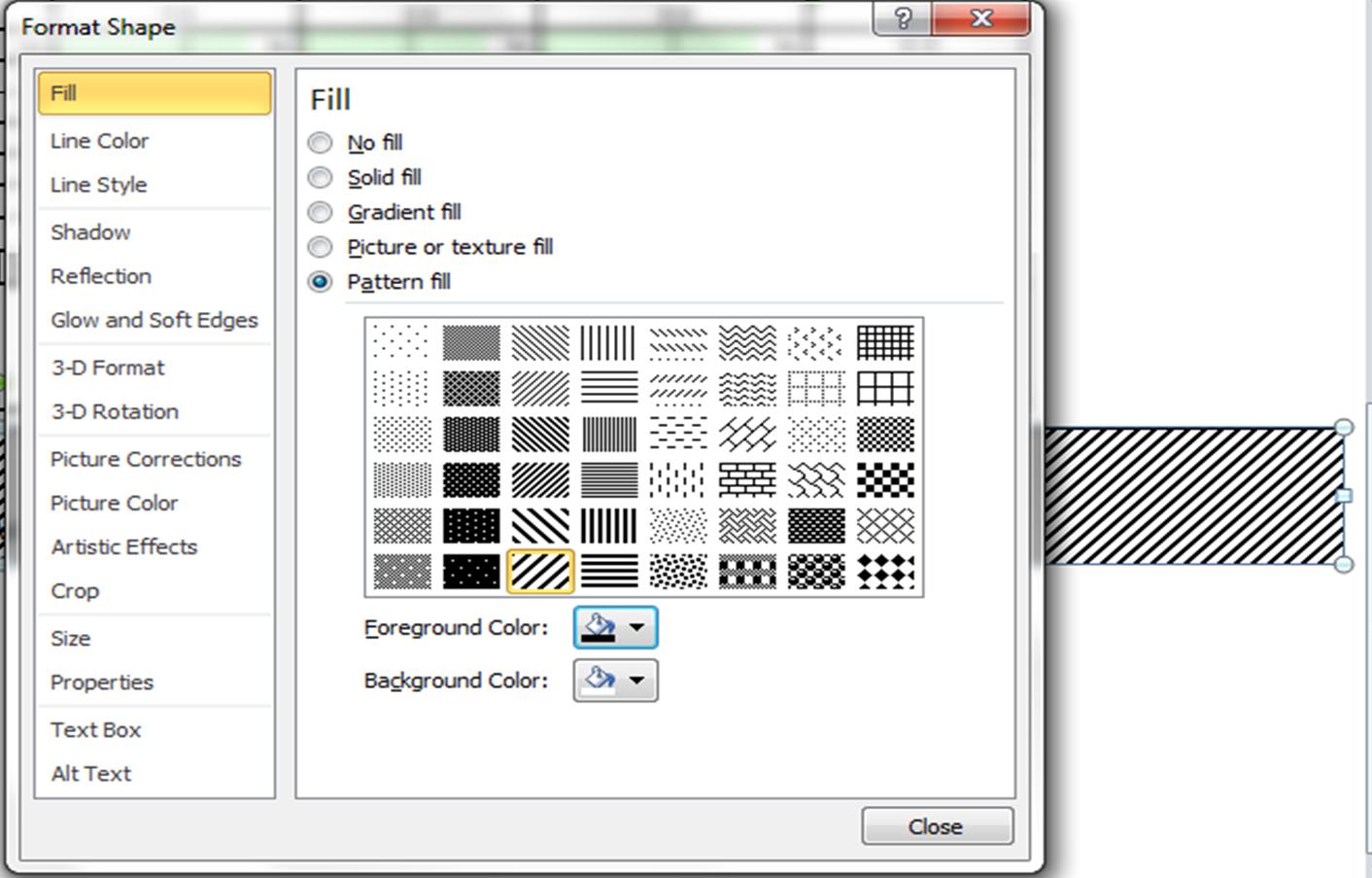 Excel Vba Chart Fill Pattern