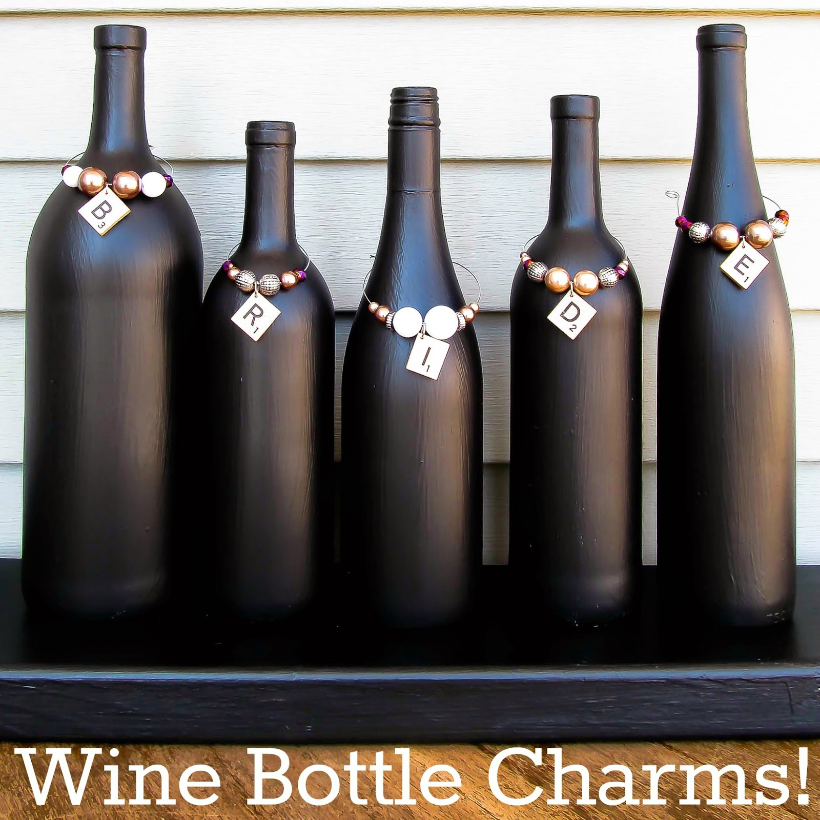 Chalkboard Paint Bottles & Wine Bottle Charms