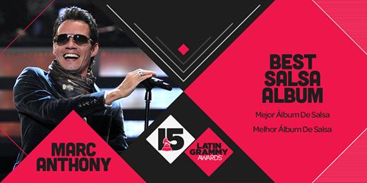 グラミー賞: Marc Anthony Japan: ラテングラミー2014、3.0がベストアルバム賞受賞