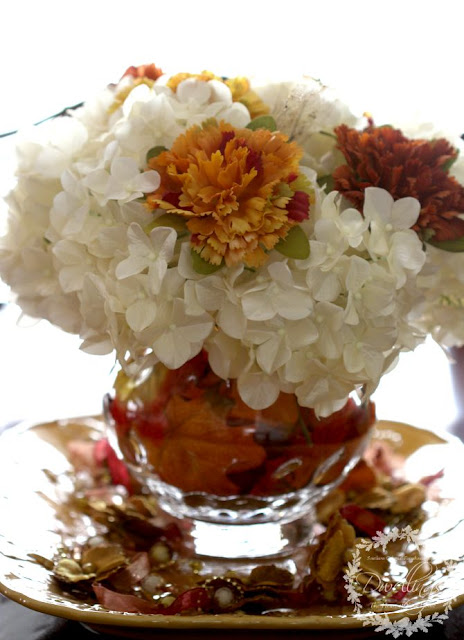 Fall Centerpiece in the dining room ... Fall Home Tour 2015 ~ DWELLINGS - The Heart of Your Home
