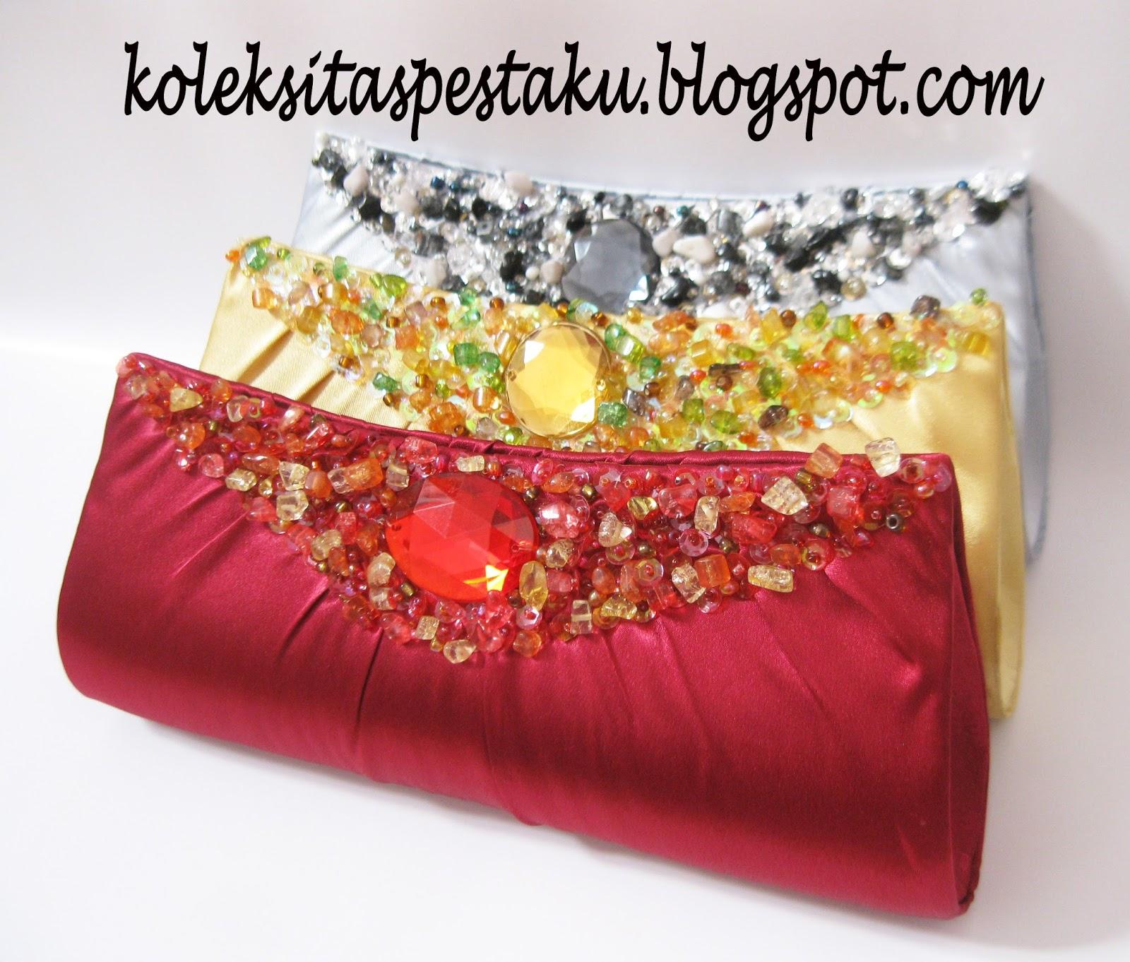 Tas Pesta Mewah Elegant Cantik Silver Gold Maroon. TAS PESTA - CLUTCH BAG  ... 9f55129c36