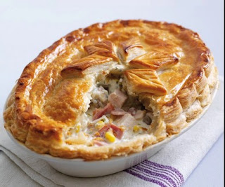Chicken, Ham and Mushroom Pie