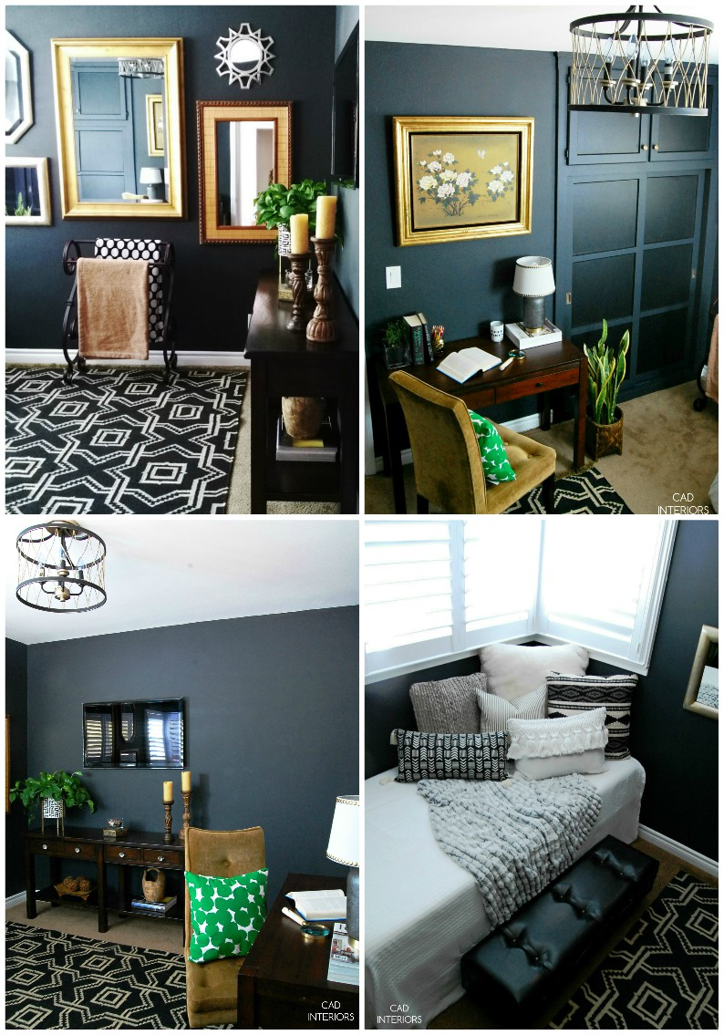 one room challenge black bedroom interior design modern eclectic contemporary
