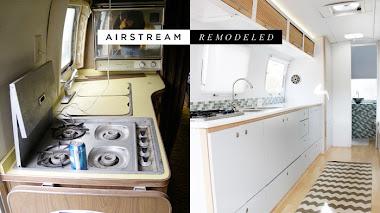 Remodelando sorprendente de  una vieja caravana Airstream