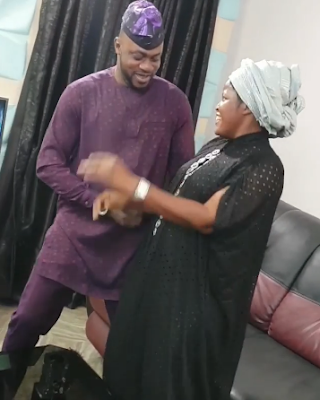 Odunlade Adekola Celebrates His 40th Birthday As He Dances With His Wife
