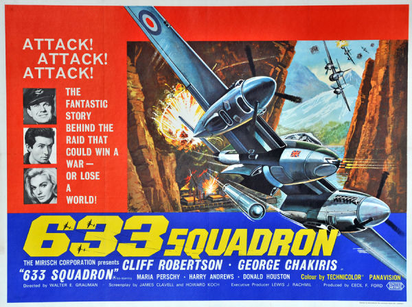 British quad poster for 633 Squadron