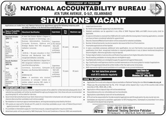 Job Vacancies in NAB 21 December 2018