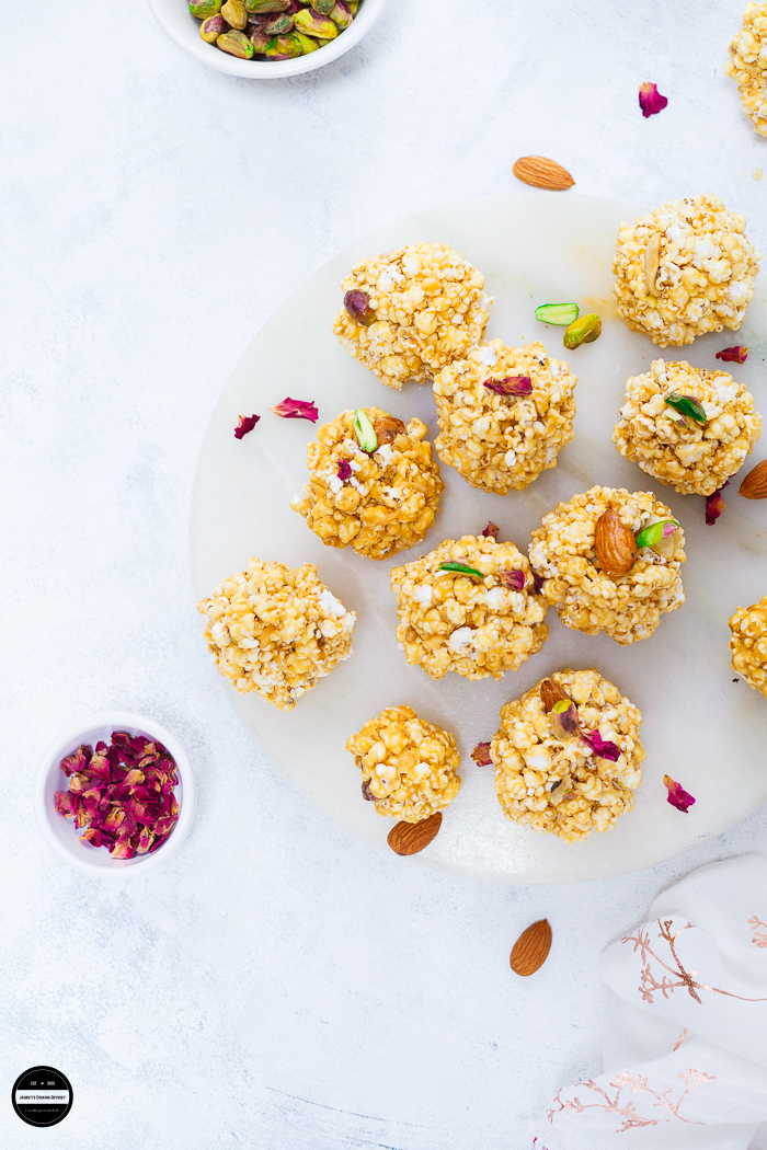 Jowar Dhani Na Ladoo/Ladu is a quick and easy recipe which is prepared with only a few ingredients and perfect for Holi celebrations.