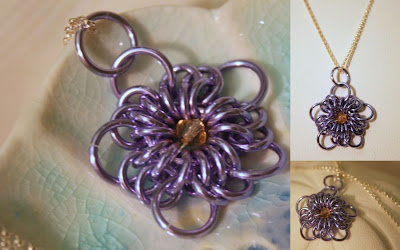 Lavender flower: Victorian era inspire, Sterling silver, Aluminum, Swarovski :: All Pretty Things