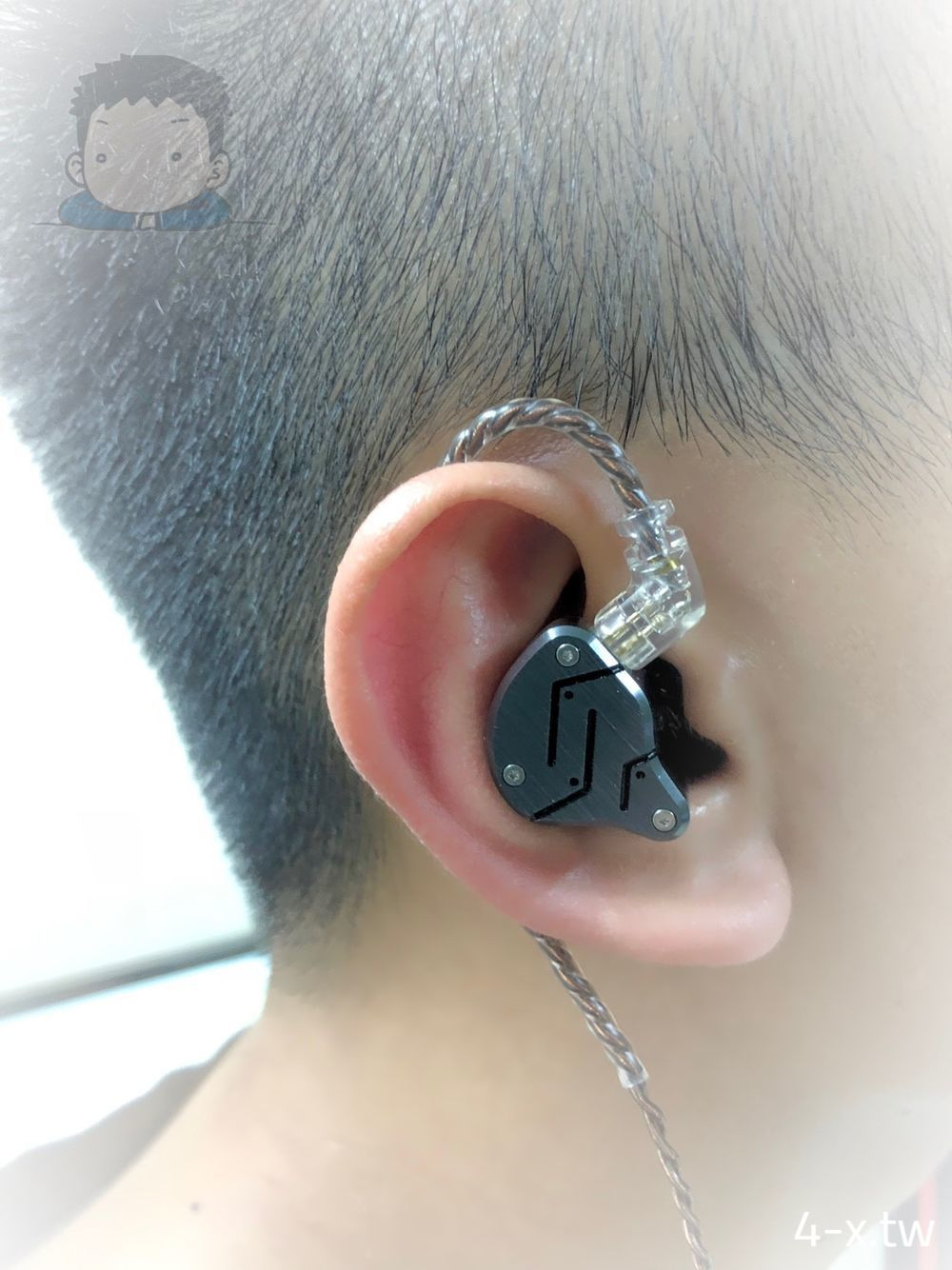 KZ ZSN 耳機實際配戴狀況(右耳)